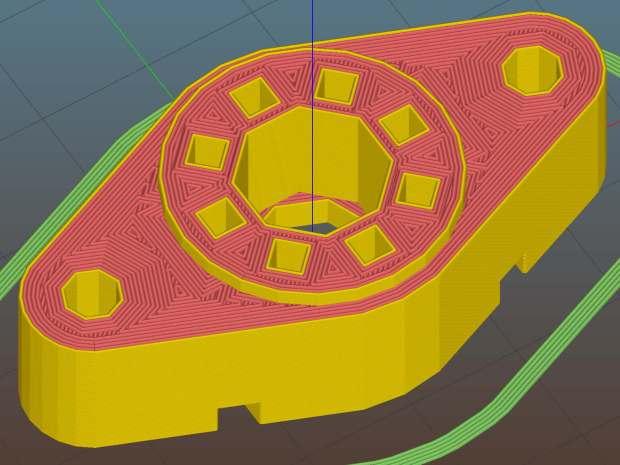 Vaccum Tube Lights - Octal Socket - Slic3r preview