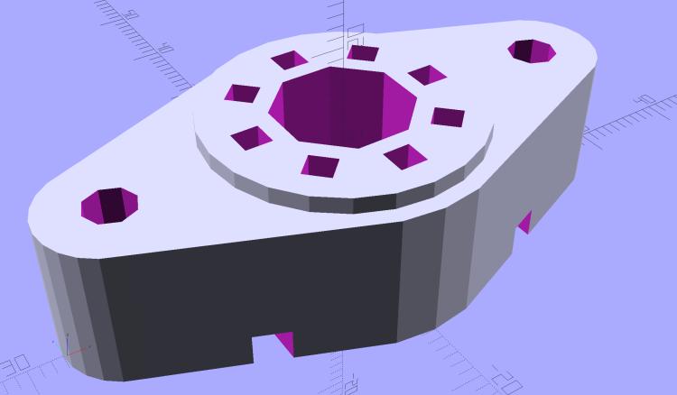 Vacuum Tube Lights - Octal Socket - solid model