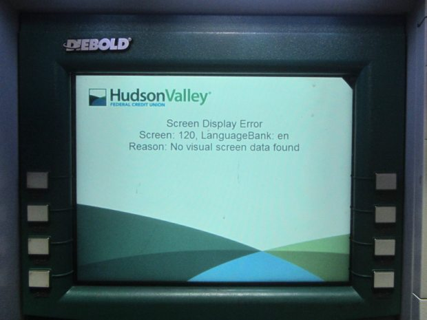 ATM Screen Display Error Message
