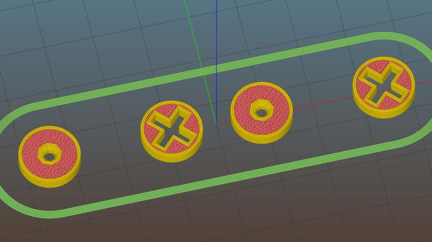 Ruler Adapter - reticle - Slic3r preview