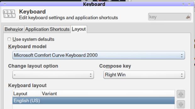 Compose key selection