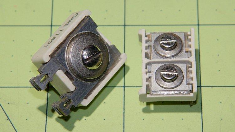 Mica trimmer capacitors