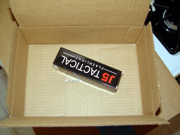 J5-V2 Flashlight - Amazon packaging