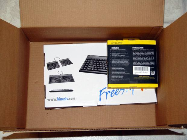 Keyboard and charger - Amazon packaging
