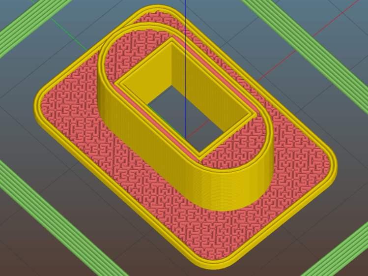 Prox Sensor Bezel - Slic3r preview