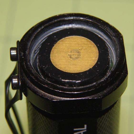 J5 V2 Flashlight - negative cell terminal