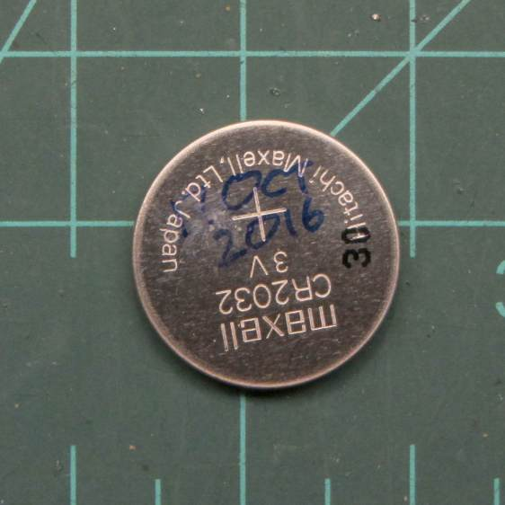 Maxell CR2032 cell - early failure