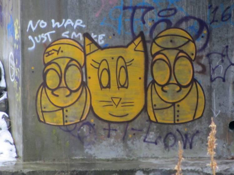 Red Oaks Mill Dam 2016-12-18 - graffiti