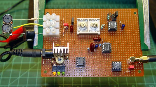 60 kHz preamp board - fake antenna
