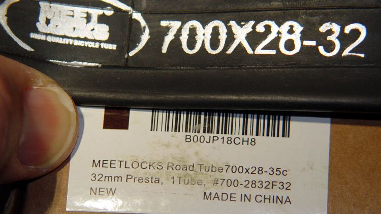 Meetlocks tube size mismatch
