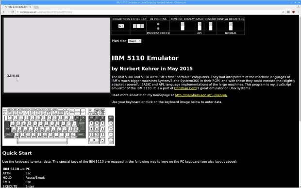 IBM 5110 Emulator - Javascript on Raspberry Pi