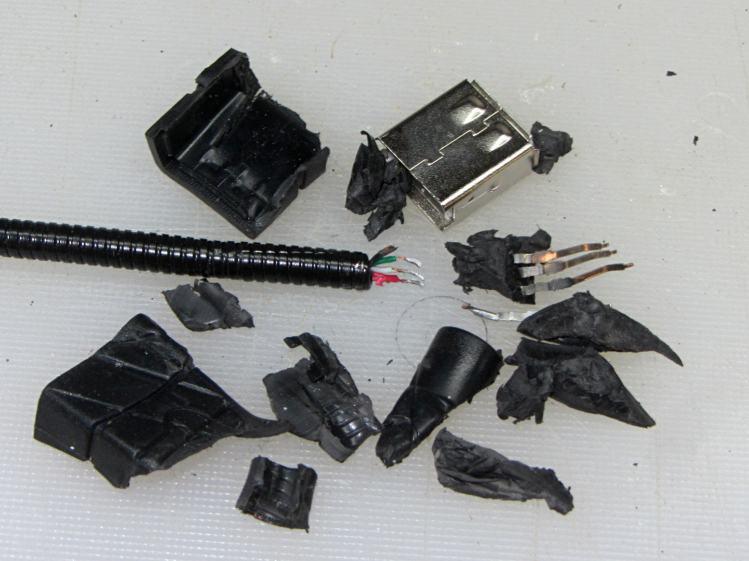 USB Gooseneck Extender - disassembled