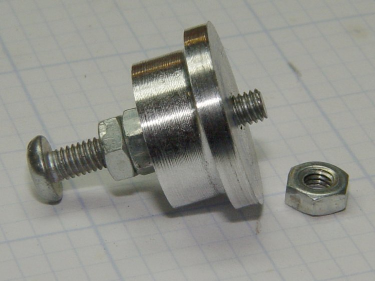 Screw cutting fixture - M3x0.5 aluminum - side view