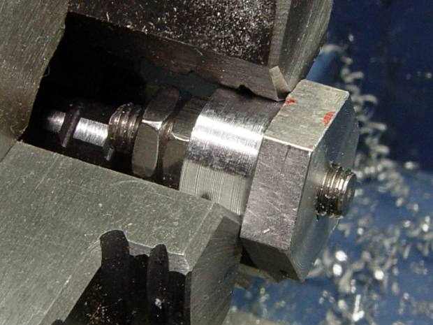 Screw cutting fixture - 10-32 - first cut