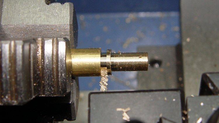 Audio plug - brass trim turning