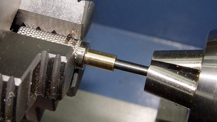 Audio plug - brass trim gluing