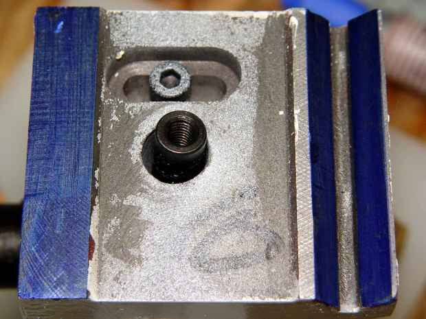 Tailstock way repair - blue Sharpie
