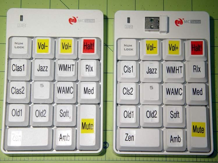 Wireless USB Numeric keypads