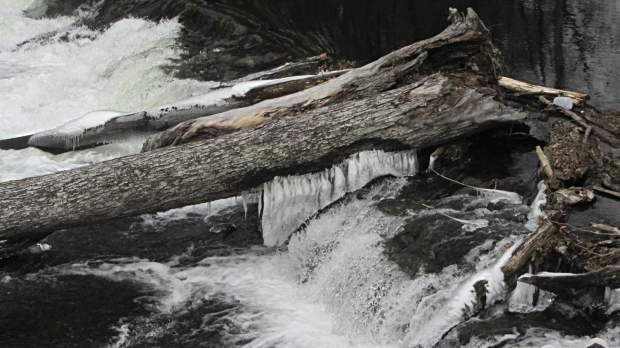 Red Oaks Mill Dam - ice formation