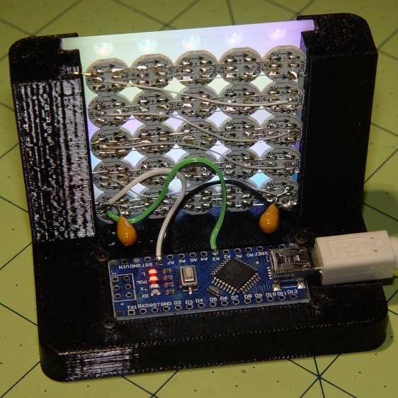 SK2812RGBW test fixture - rear