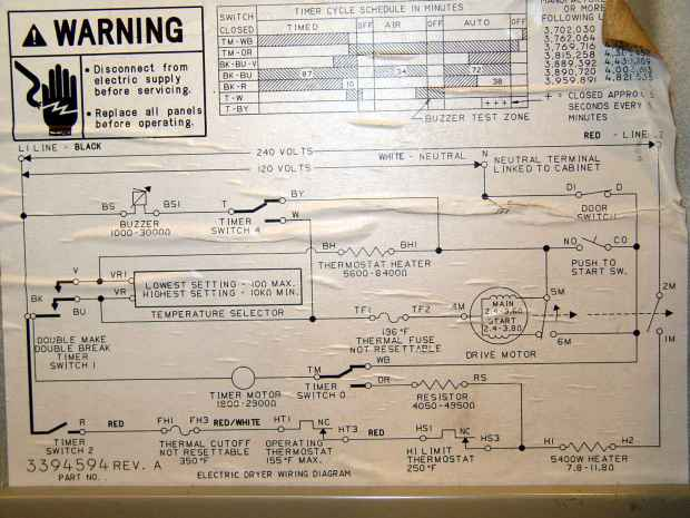 Kenmore Electric Dryer Wiring Diagram - Wiring Diagrams on