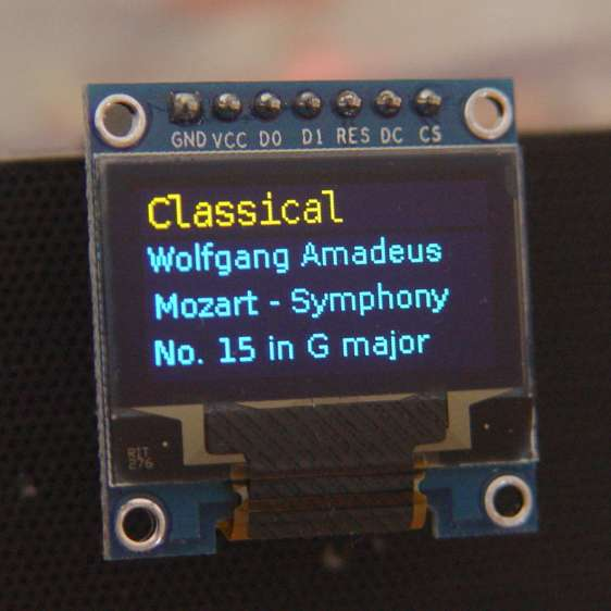 RPi OLED Display - Classical