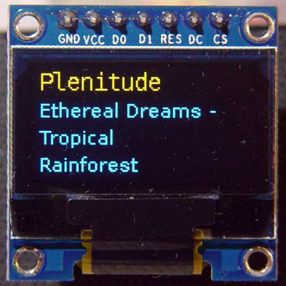 RPi OLED Display - Plenitude
