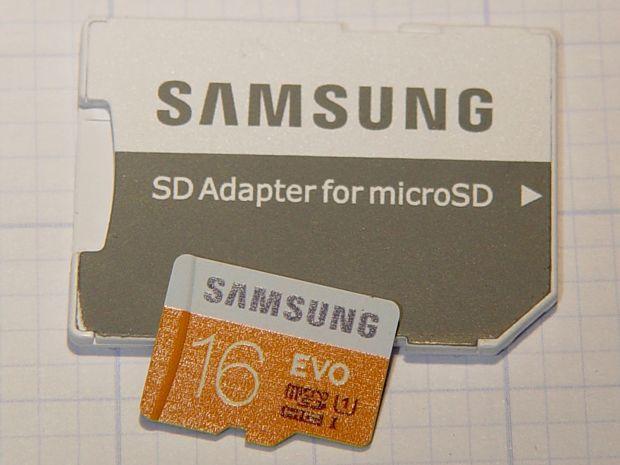 Samsung 16 GB Evo MicroSD card