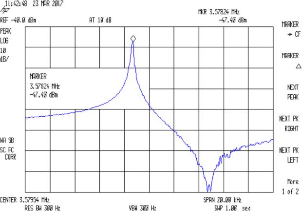 Quartz 3.57954 MHz - no cap