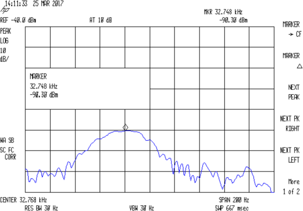 Quartz Resonator 32.763 kHz - no cap