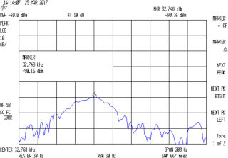 Quartz Resonator 32.764 kHz - 34.6 pF