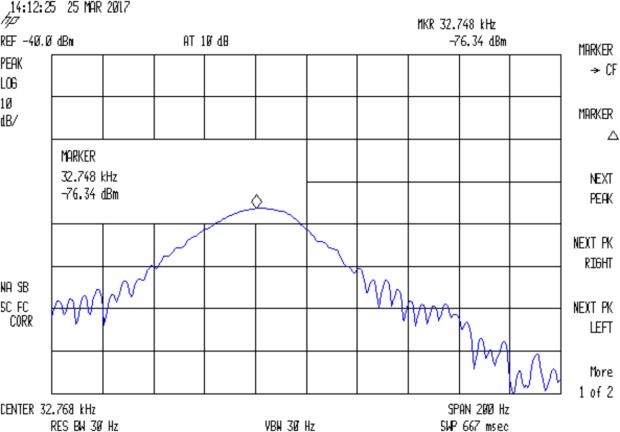 Quartz Resonator 32.764 kHz - no cap