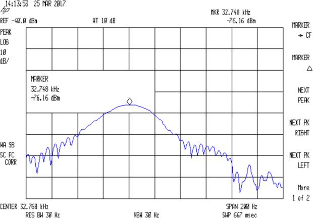 Quartz Resonator 32.765 kHz - 34.6 pF