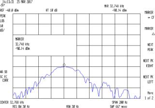 Quartz Resonator 32.766 kHz - 34.6 pF