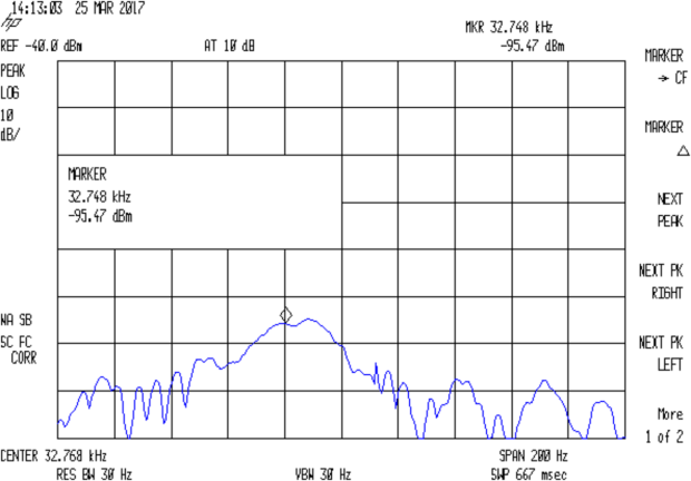 Quartz Resonator 32.766 kHz - no cap