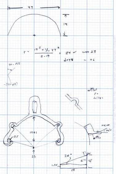 Rear Fender Clip - measurement doodles