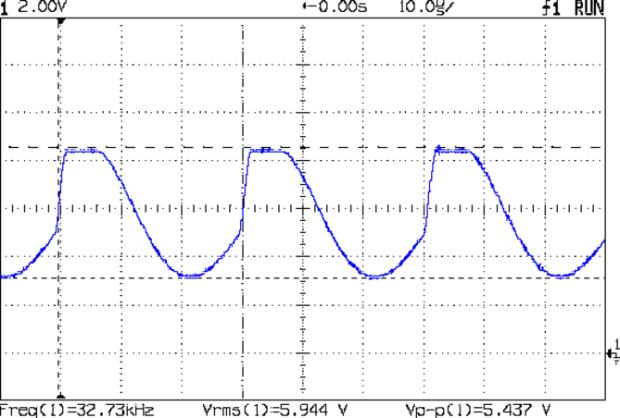 Colpitts 32.768 kHz - 47p 470p waveform
