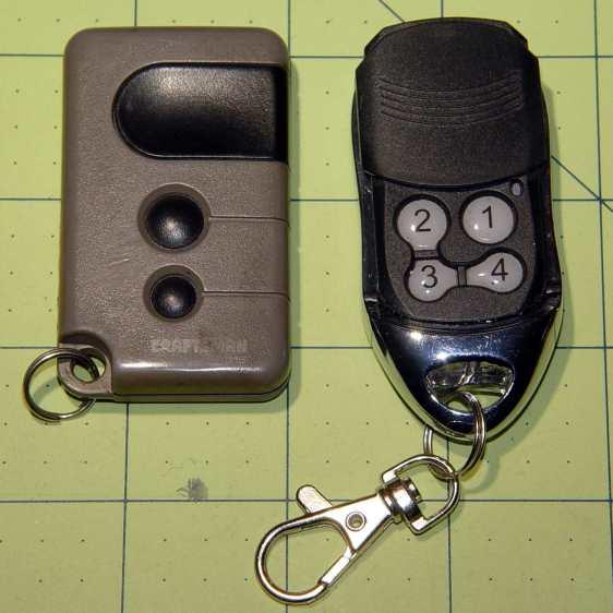 Garage door opener remote controls