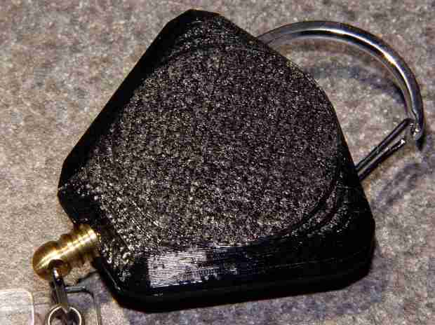 Badge Lanyard Reel - rear - oblique