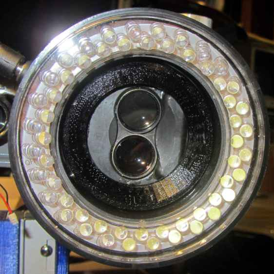 Microscope 60 LED ring light - assembled - bottom