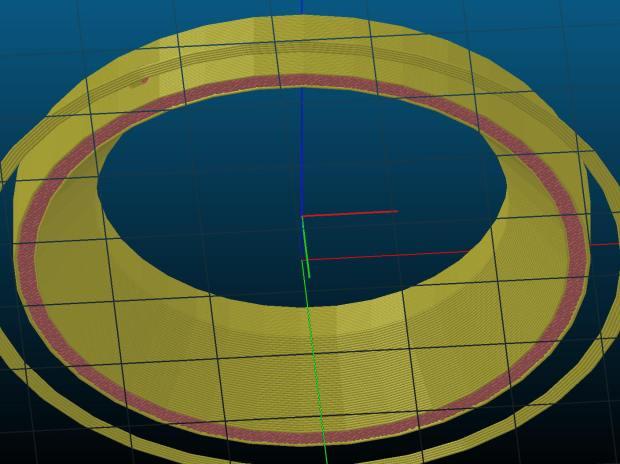 Microscope 60 LED Ring Light Adapter - bottom - Slicer