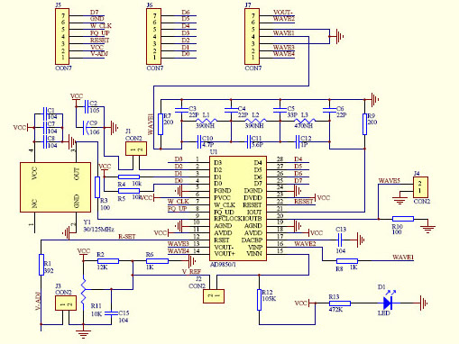 AD9850 module schematic - cropped