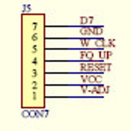 AD9850 module schematic - J5 detail