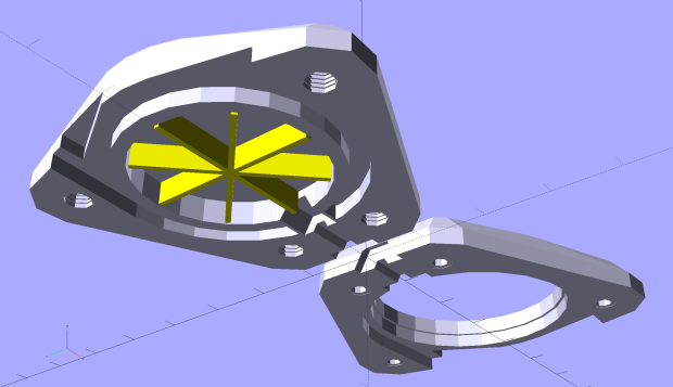 Badge Lanyard Reel Mount - build layout - bottom