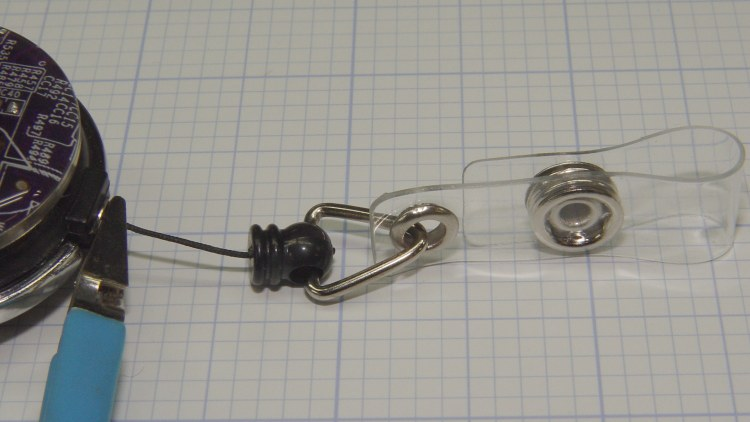 Badge Lanyard Reel - plastic bullet link