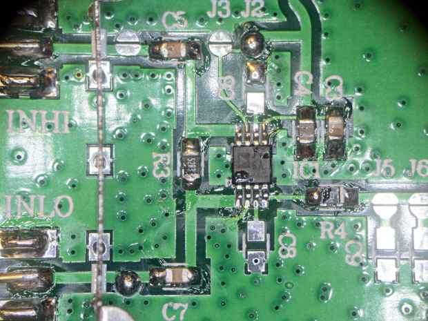 AD8310 Log Amp module - PCB detail