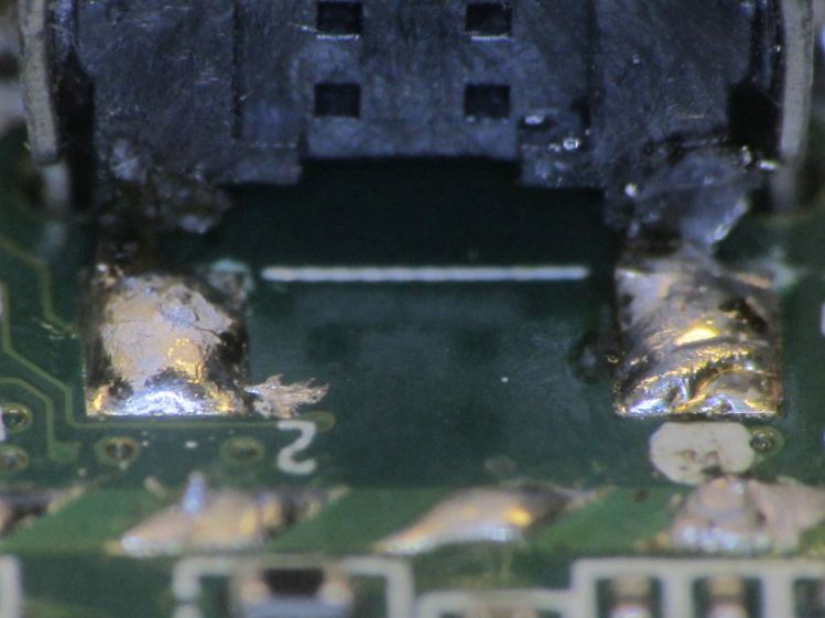 Kindle Fire power switch - rebuilt - switch pads