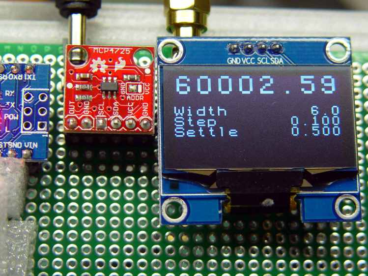 White 1.3 inch OLED on crystal tester
