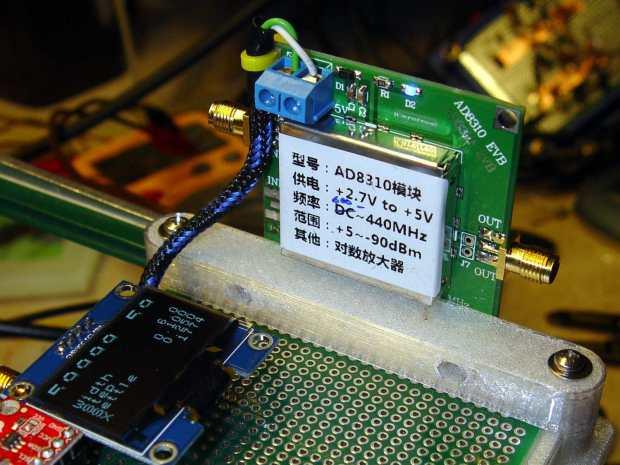 AD8310 module bracket on proto board holder - component side