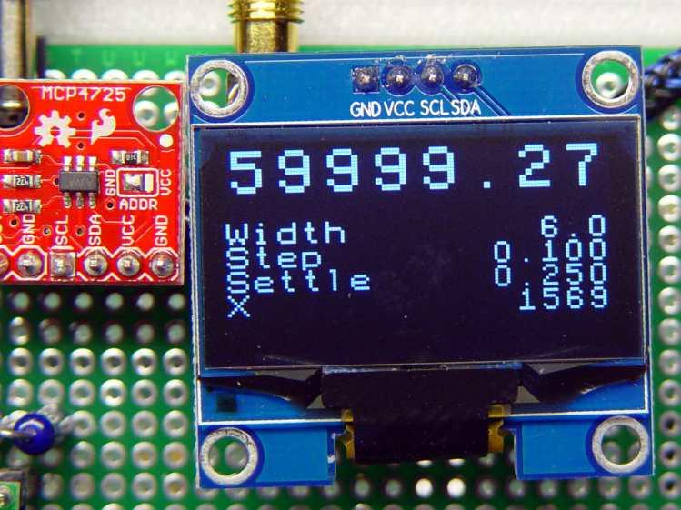 White 128x64 OLED Display - crystal tester